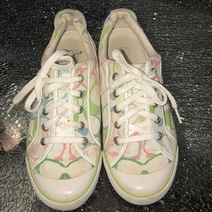 Coach sneakers size 8.5 woman's